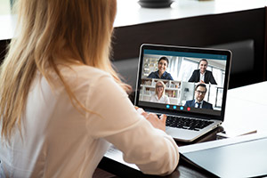 Connecting with colleagues through online meetings